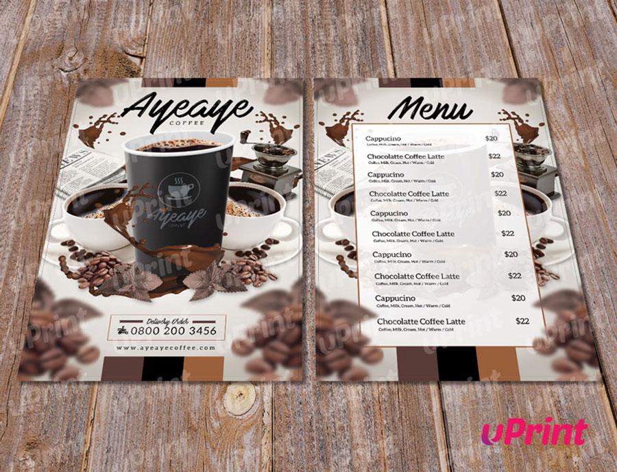 mẫu menu cafe